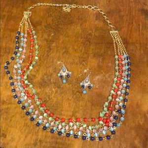 JJILL necklace and matching earrings for sale